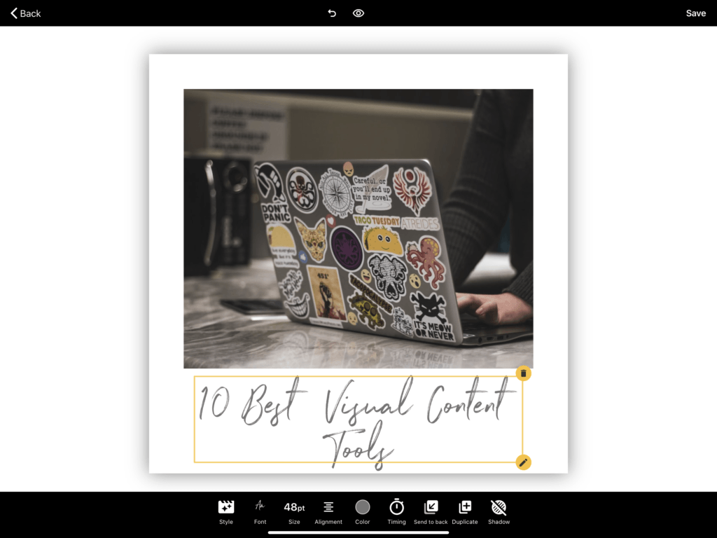 Visual content tools for digital marketing and social media content creation